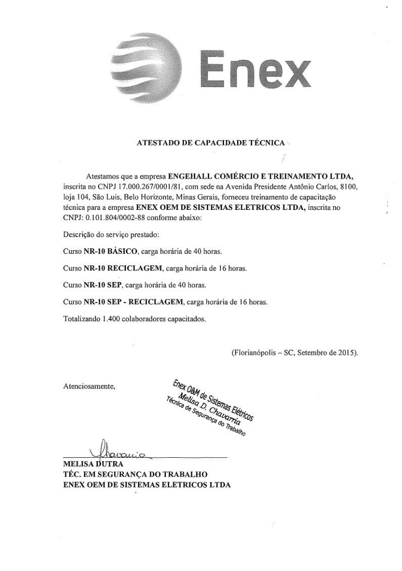 certificação enex